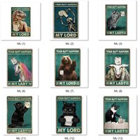 Vintage Tin Signs Your Butt Napkins My Lord Lady Animals Metal painting Iron Plaque Bar Pub Home Decoration Wall Poster Cat Guinea Pig Funny Stickers 20*30cm