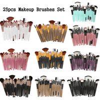 25 шт. Фонд Makeup Professional Make Up Щетки набор глазной станок для глазной кисти Brocha de Maquillaje Kit Mag5484
