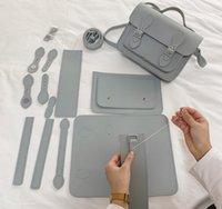 England School PU Material Tasche Set für Tasche DIY 210306