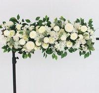100cm DIY Mariage Flower Arrangement mural Fournitures Petonies de soie Rose artificielle Fleur artificielle Décor de mariage Arch de mariage