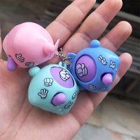 Mini Dispositivo Feira de Dedo-Adivinhação Jogo Rock Papel Tesoura Jogar Brinquedo Redondo Ovo Delicado e Engraçado Chaveiro Chaveiro Pingente