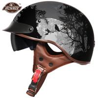 Мотоциклетные шлемы летний шлем Ретро Moto Открытое лицо скутер Biker Motorbike Racing Riding Casco для мужчин женщин