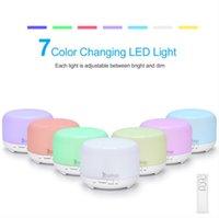 Home Duftlampen 110V 12W 450ml Aroma Diffusor Kunststoff mit weißer Fernbedienung und buntem Licht Whit