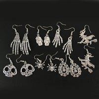 Hip Hop Rock Contracted Character Charm Skeleton Earrings Halloween Restoring Ancient Ways Punk Skull Earring Girl Jewelry