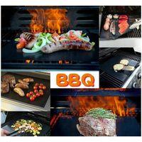 BBQ Grill Matte Durable Antihaft-Grill Matte 40 * 33 cm Kochplatten Mikrowellenherd Outdo Jlyos Sport77777