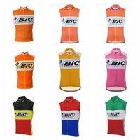 BIC Team Cycling Jerseys Traspirante Pro Team Quick Dry Dry MTB Camicie per biciclette senza maniche Campire Bike Tops Sports Uniform S21030903