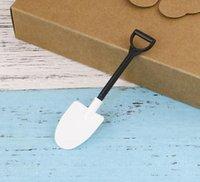 Sorvete Spoons Mini Shovel Colher De Plástico Bolo Construção De Praia Partido De Jardim Descartável Pilhas Picolé Ferramentas
