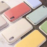 로고 소매 상자 공식적인 실리콘 전화 케이스 아이폰 12 프로 최대 13pro 11pro x xr xs 8 7 6s 플러스