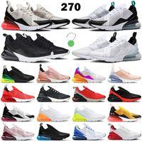 270 React shoes 저렴한 반응 남성 실행 신발 여성 트레이너 트리플 화이트 블랙 선인장 빛 뼈 바우 하우스 매화 분필 회색 남성 통기성 스포츠 운동화