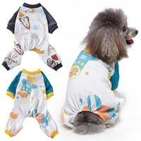 Dog Apparel Small Dogs Pajamas For Pet Cat Clothes Puppy Jumpsuit Coat Chihuahua Pomeranian Print Clothing Shirt*