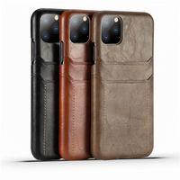 Custodia a doppia custodia in pelle PU in pelle di alta classe per iPhone SE2020 11Pro Max Samsung S20 Huawei P40 copertura di alta qualità