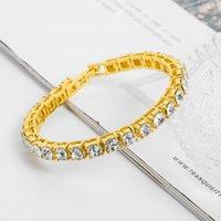 Tennis Bracelets Jewelry 2019 New Fashion High Quality Zircon Women Bracelets Wholesale Brief Stainless Steel Women Bracelets Jewelry
