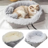 Pet Cat Letto Lavabile Pet Cat Sleeping House Nest Peluche Letto Inverno caldo Animali domestici Mats Gattino Morbido sacco addormentato 1