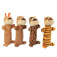 Dog Toys Chews Environmental Protection Design no Stuffing Puppy Chewing Toy Plush Pup Plaything for Small and Medium Dogs Lion Giraffe Tiger Leopard