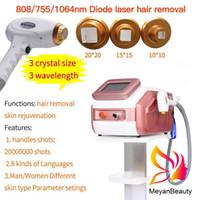 808nm Diodenlasermaschine für Haarentfernung Hautverjüngung 3 Wellengt 755 1064 808 Ausrüstung