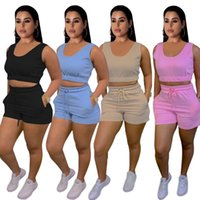 Women's Tracksuits Shorts Sets Two Piece Set Women 2 Outfits Wholesale Items Tops Female Nice Summer Clothing