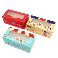 20 pcs Paper windows wedding kids birthday cake kraft gift paper packaging box food baking candy cookies supplier