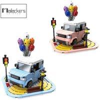 MalailAckers City Car Mini Car Creator Esperto Building Blocks City Street Trasporto Mattoni Giocattoli per bambini H0824