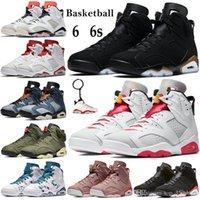 Anahtarlık Hare oregon ile Yeni Yüksek 6 6s Basketbol ayakkabı erkekler spor ayakkabıları siyah spor ayakkabıları DMP 2020 Travis'in scotts Koşu ördekler
