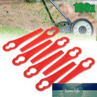 50st Gourd Shaped Plast Byte Borstskärare Blade Grass Trimmer Kniv Lawn Mower Fittings Tillbehör för trädgårdsverktyg