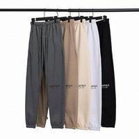 2021 New Autunno Inverno USA La paura di Dio Essentials Silicone Lettere Stampa Pantaloni da stampa Casual Nebbia Pantaloni Donne Donne FG Pantaloni da jogger F9VS #