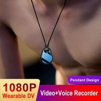 2021 1080P Mini DV Camera Wearable Keychain Necklace Pendant Camcorder DVR Video Recorder Portable Sports Micro Body Cam