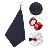 Golf Training Aids Ball Cleaning Towel With Hook Waffle Pattern Cotton Tool Kit Supplies Accessories
