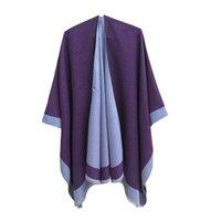 Femmes enveloppes Couleur pure Châle Chantit Climatiseur intérieur Pashmina Cloak Spring Automne Mode Foulards 8 Couleurs 2361 Y2