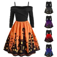 2019 new product launch HALLOWEEN PRINT mosaic contrast large skirt