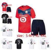 2020 2021 New Men's Football Losc Felpa Lille Fonte Fonte Bamba Yazzici J David Camicia da calcio 20 21 Lille Olympique JKone 10 Adult Suit