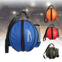 Universal Sport Bag Adjustable Shoulder Strap Knapsacks Storage Basketball Ball Football Volleyball Backpack Handbag Round Shape