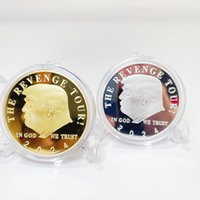 2024 Trump Declaration Gold-plated Silver-plated Commemorative Coin Metal Medal Collection Crafts 2 Styles