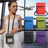 Card Holders Nylon Anti-Theft Travel Passport Neck Bag Blocking Phone Wallet Pouch For Men And Women Mini Crossbody
