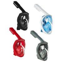 Tauchmasken Faltbare volle Gesicht Schnorcheln Anti-Nebel-Beschützer für ErwachseneWith Wasserdichte Ohrstöpsel Gummiring
