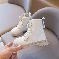 Autumn Girls Boots Leather Kids Double Zip Design Waterproof Ankle Fashion Children Size 26-36 211025