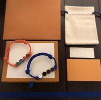 Wholesale Men Women Charm Bracelets Designer Jewelry Bracelet Couple Hand Rope Adjustable String of Beads with Letter Flower