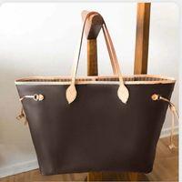 Bolso de alta calidad Totes de diseño de lujo Totes Classic Flower Brown con bolsas originales Número de serie Monedero Bolsos de compras grandes Bolsos Paquete Paquete Hombro 0