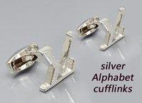 Роскошная манжета Ссылки высокого качества Мужская классическая буква дизайн стиль с рубашками Серебряные золотые черные розовые золоты рубашки запонки