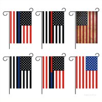 30 * 45cm American Flag Red Stripe Garden Flags Digital Printing Outdoor Decoration Flag 6 Style T500876