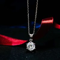 HBP fashion luxury Jewelry New Necklace cross chain 40 + 5cm simple round heart 16 arrow single diamond S925 Sterling Silver Pendant