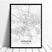 Arnhem Netherlands Map Canvas Printing Animal Wall Art Poster Modern Home Decoration Art for Kids