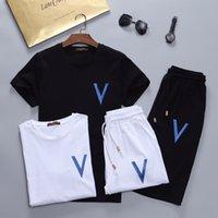 Yaz Tişörtü Ter Erkek Giyim Erkek Kısa Eşofman Ceketler Spor Setleri Koşu Hoodies Suit Moda Spor Bee Basılı