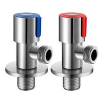 Válvula de agua de la parada de ángulo de giro 304 Faucet de acero inoxidable Válvula de triángulo G1 / 2 para baño / de cocina / tapas de baño JK2103KD