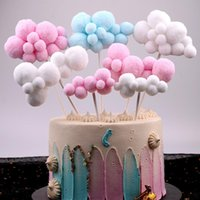 Other Festive & Party Supplies Cake Toppers Cute Colorful Cloud Decorations For Birthday Wedding Decorating