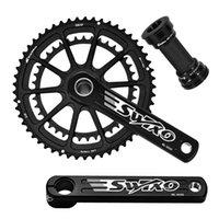 دراجة دراجة نارية chainwheels سبائك الألومنيوم 12 سرعة دراجة كرنك مجموعة 170 ملليمتر / 175 ملليمتر crankset 53t / 39t chainring مع قوس أسفل للطريق