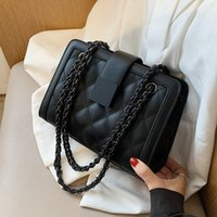 Handbags Designer Winter Chain For Shoulder 2021 Women Trend Hand Bag Black PU Leather 3Cpy Crossbody Small Rrrmr
