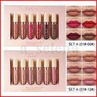 HANDAIYAN 6 UNIDS / SET MATE LIP Gloss Lipstick Lipgrostice Lipgloss Impermeable Lápiz labial Duradero Sexy Nude Color Lip Gloss Maquillaje Cosmetics Set