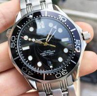 300 M Lüks Moda Saatler James Bond 007 Paslanmaz Çelik Erkek Tasarımcı Elmas Master Tag İzle Saatı