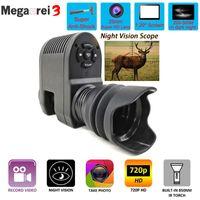 Telescope & Binoculars Megaorei 3 Optical Night Sight Hunting Vision Rifle Scope HD720P Video Record Camera With Laser IR