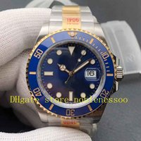 2 cores n fábrica 904L Steel V11 Versão Relógio 41mm Mens Black Blue 126613LB 126613 Cerachrom Cerâmica de dois tons de ouro Automatic Cal.3235 Eta Noobf relógios